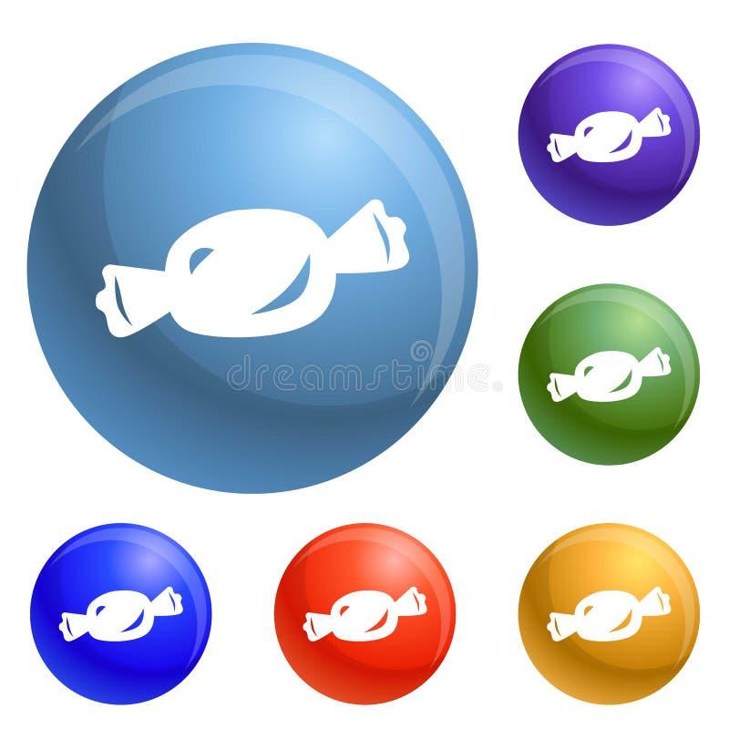 Vecteur d'ensemble d'icônes de bonbon illustration libre de droits
