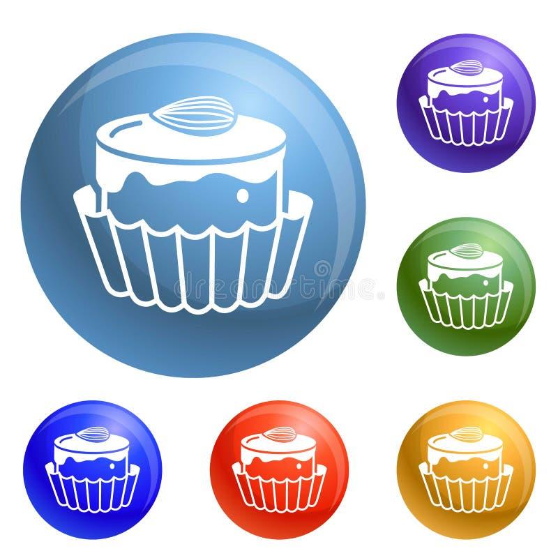Vecteur d'ensemble d'icônes de bonbon de Choco illustration de vecteur