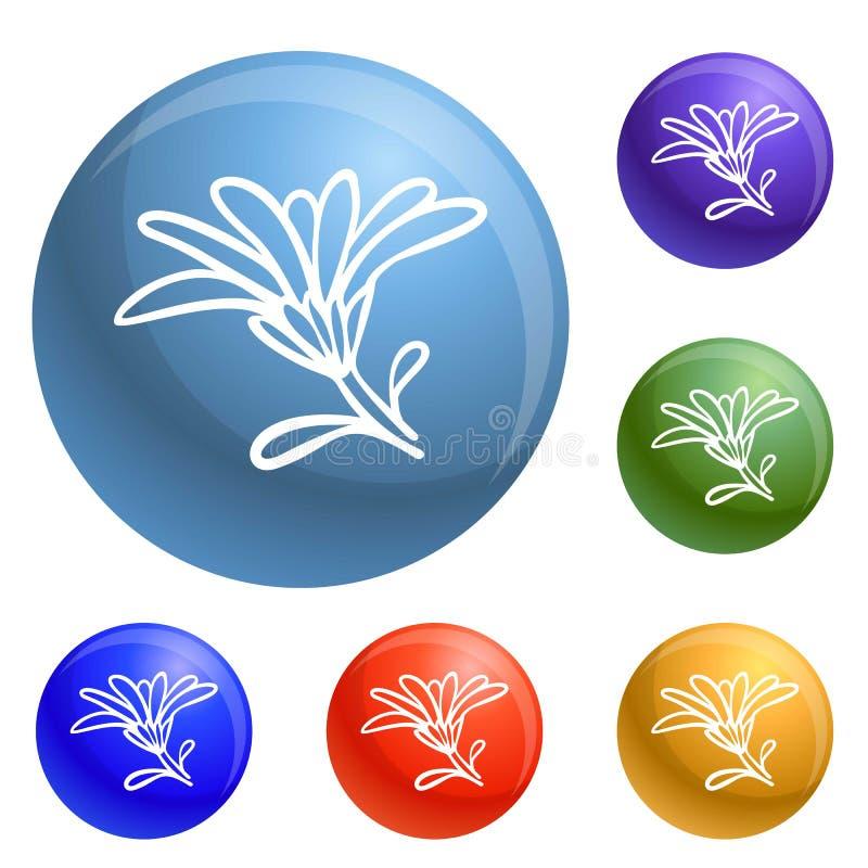 Vecteur d'ensemble d'icônes de fleur de Calendula illustration de vecteur