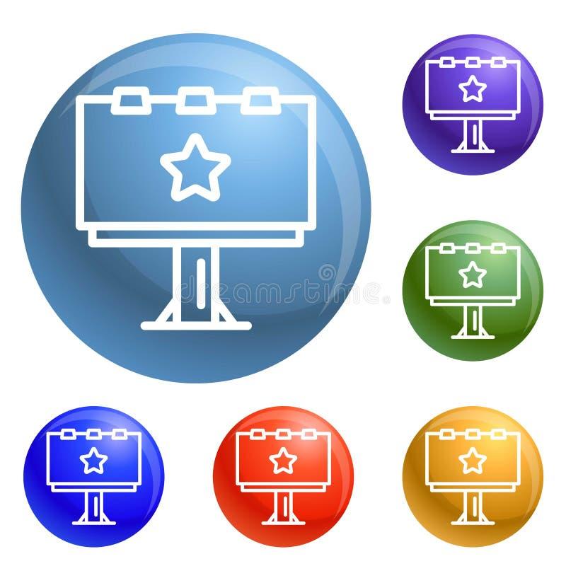 Vecteur d'ensemble d'icônes de panneau d'affichage illustration stock