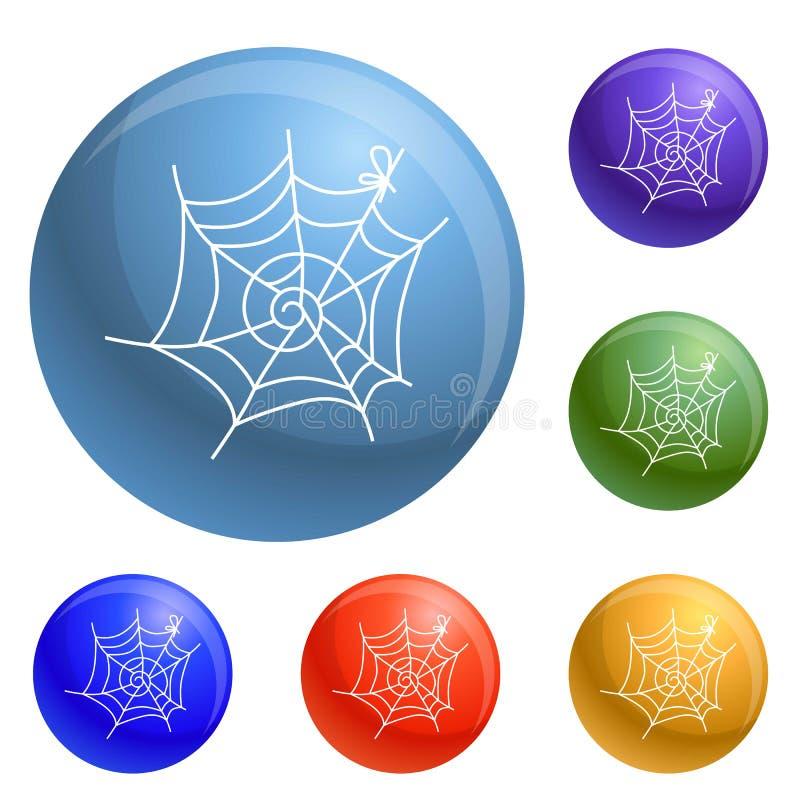 Vecteur d'ensemble d'icônes de toile d'araignée illustration de vecteur