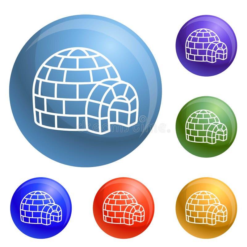 Vecteur d'ensemble d'icônes d'igloo illustration libre de droits