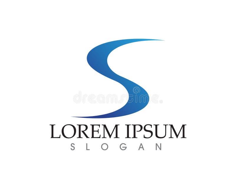 Vecteur d'entreprise de conception de logo de la lettre S d'affaires illustration de vecteur