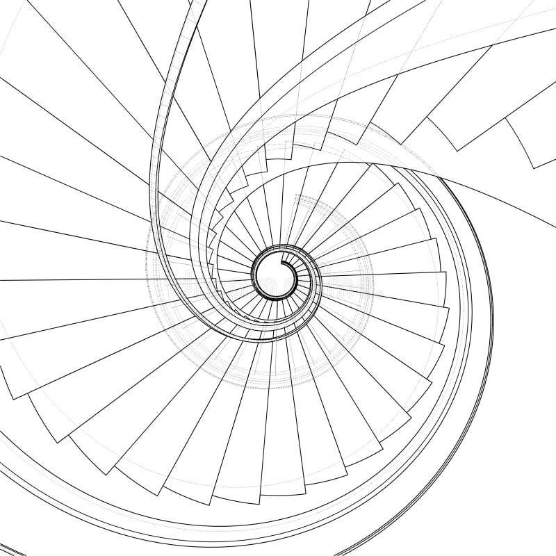 vecteur d 39 escalier en spirale illustration stock. Black Bedroom Furniture Sets. Home Design Ideas