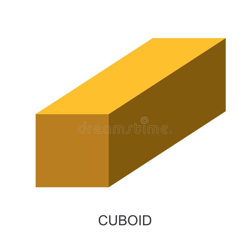 vecteur 3d forme-cuboïde illustration libre de droits