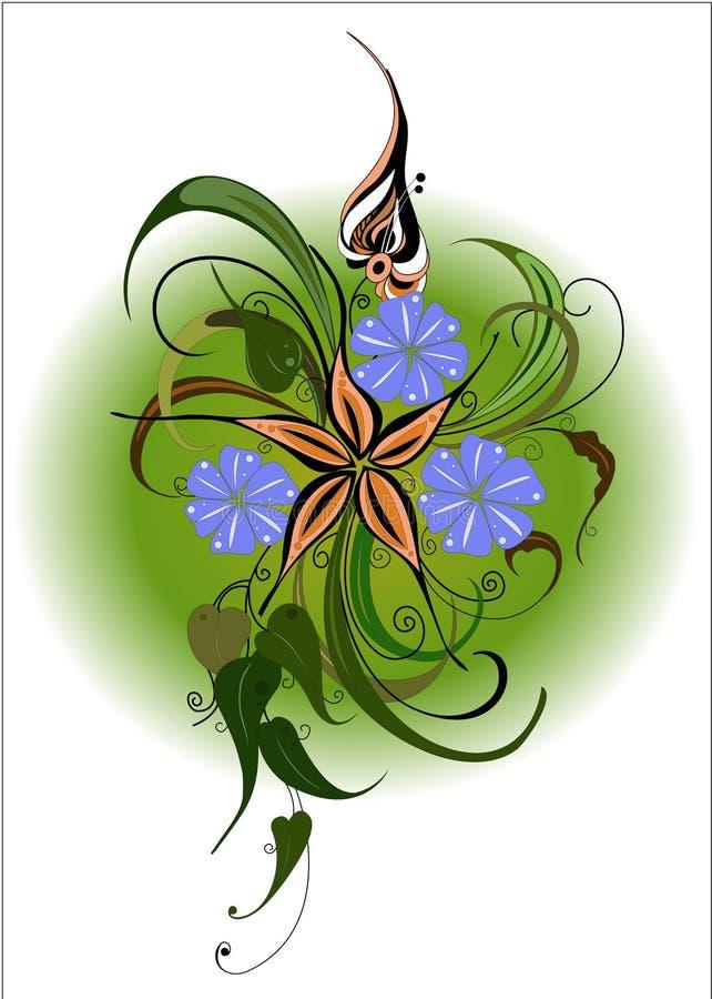 vecteur d'habit bariolé d'illustration de fleur de bouquet photo libre de droits