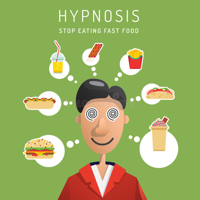 Vecteur d'homme d'hypnose illustration de vecteur