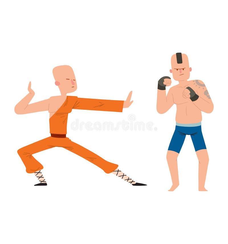 Vecteur d'homme de combattant illustration de vecteur