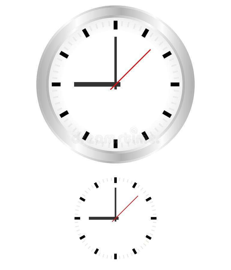 Vecteur d'horloge illustration libre de droits