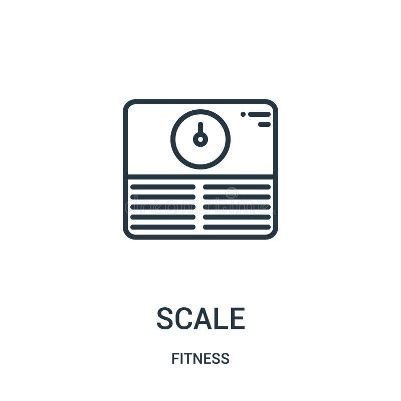 vecteur d'icône d'échelle de collection de forme physique Ligne mince illustration de vecteur d'icône d'ensemble d'échelle Symbol illustration stock