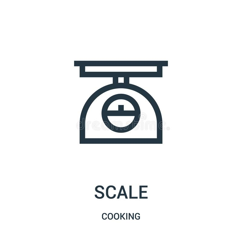 vecteur d'icône d'échelle de faire cuire la collection Ligne mince illustration de vecteur d'ic?ne d'ensemble d'?chelle Symbole l illustration libre de droits