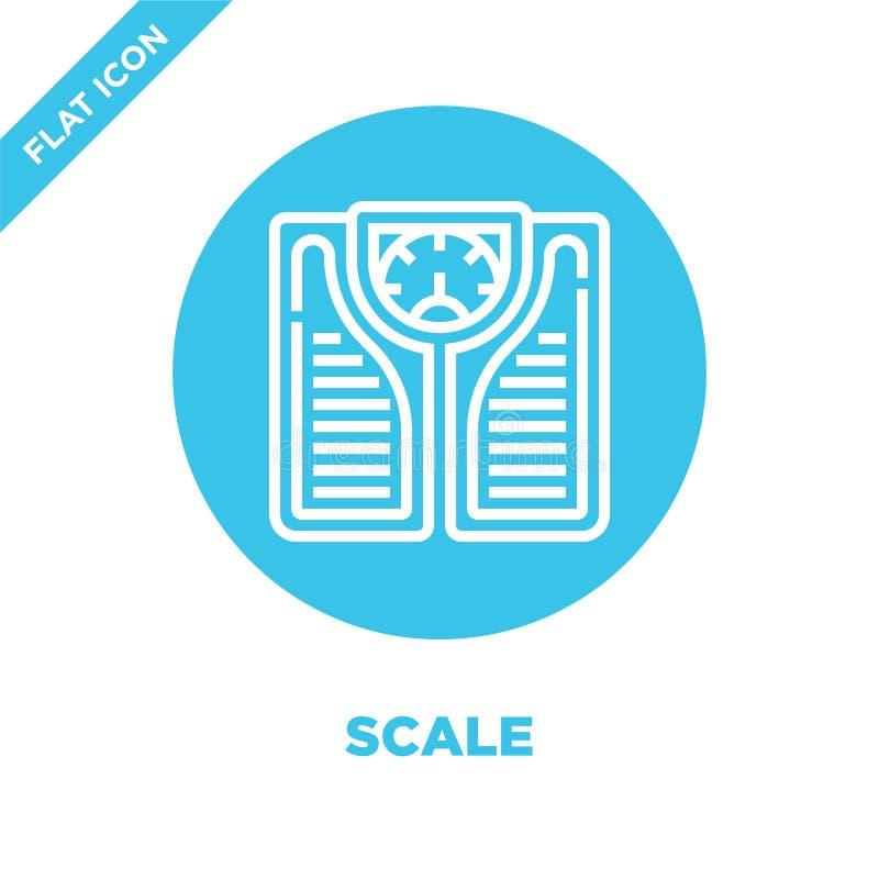 vecteur d'icône d'échelle de la collection saine de la vie Ligne mince illustration de vecteur d'icône d'ensemble d'échelle Symbo illustration stock