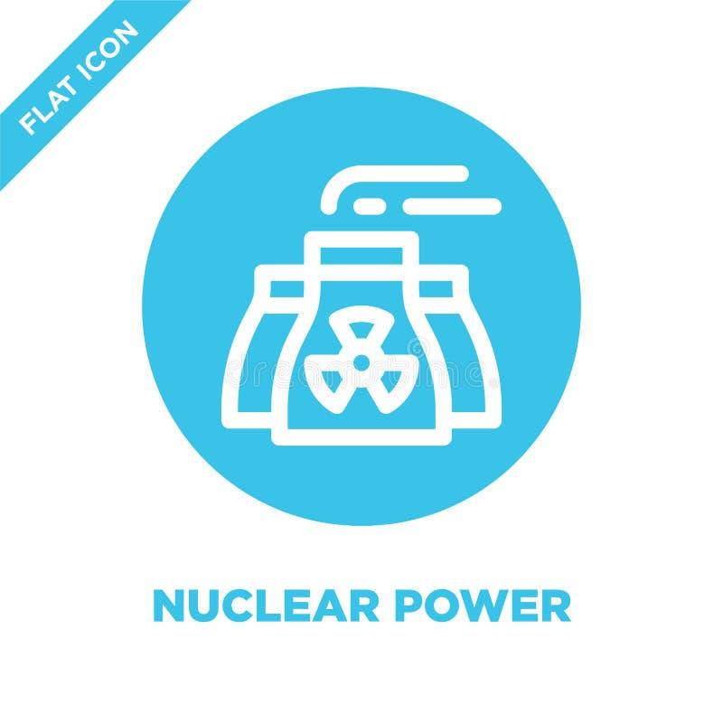 Vecteur d'icône d'énergie nucléaire Ligne mince illustration de vecteur d'icône d'ensemble d'énergie nucléaire symbole d'énergie  illustration de vecteur