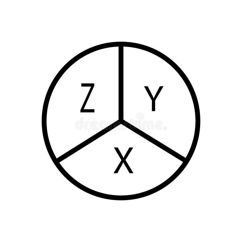 Vecteur d'icône d'équation d'isolement sur le fond, le signe d'équation, la ligne et les éléments blancs d'ensemble dans le style illustration libre de droits