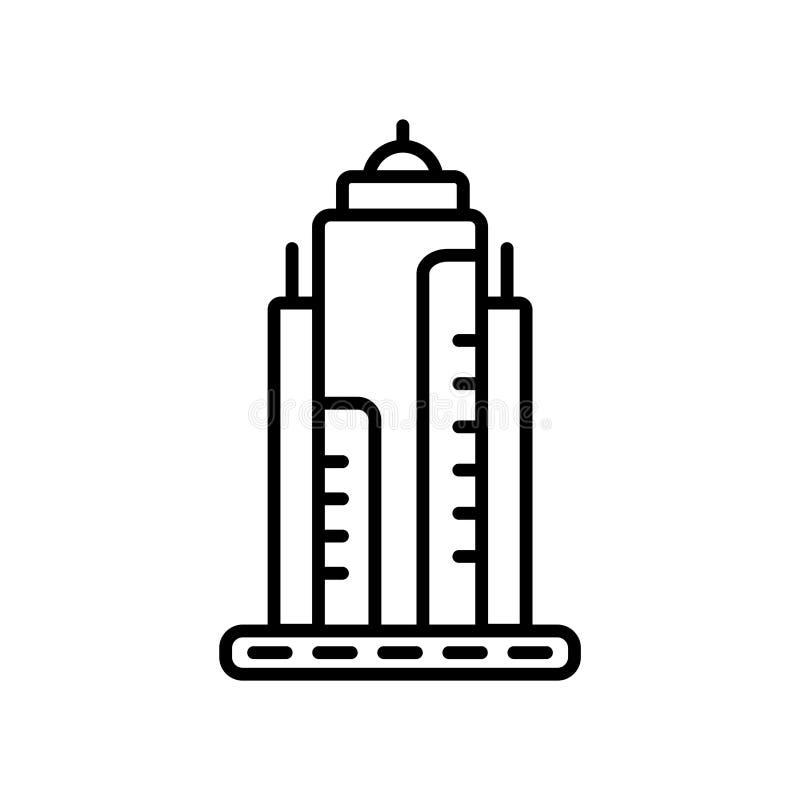 Vecteur d'icône d'état d'empire d'isolement sur le fond blanc, le signe d'état d'empire, la ligne ou le signe linéaire, conceptio illustration stock
