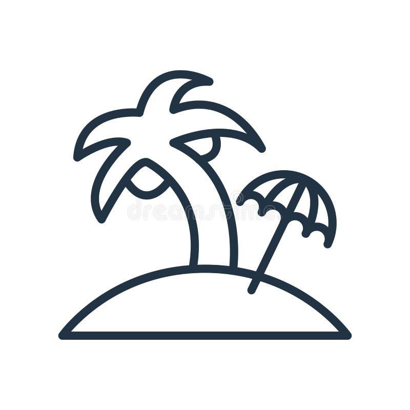 Vecteur d'icône d'île d'isolement sur le fond blanc, signe d'île illustration de vecteur