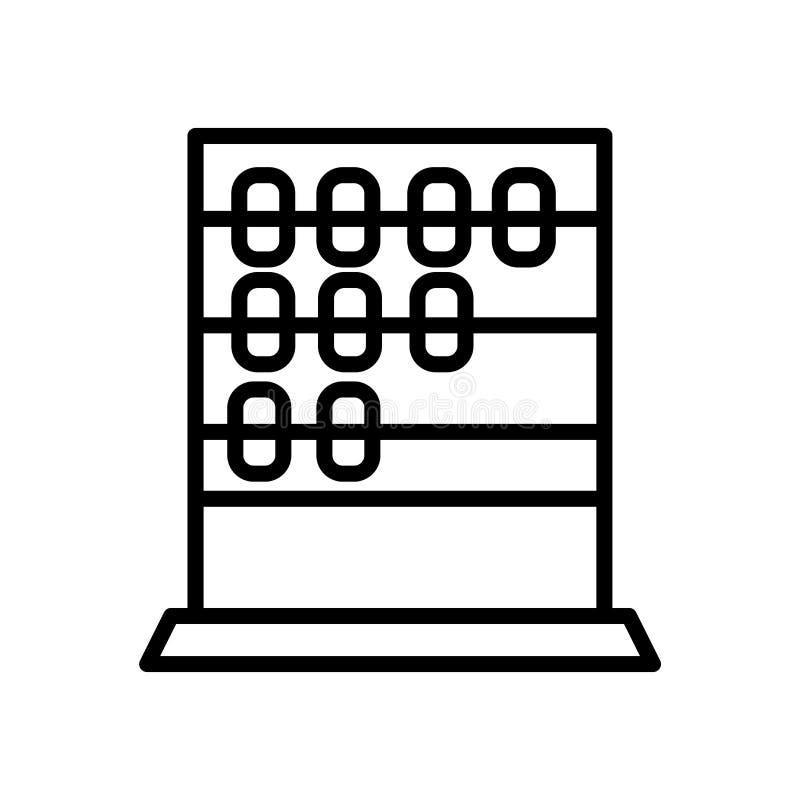 Vecteur d'icône d'Abcus d'isolement sur le fond blanc, le signe d'Abcus, le symbole linéaire et les éléments de conception de cou illustration libre de droits
