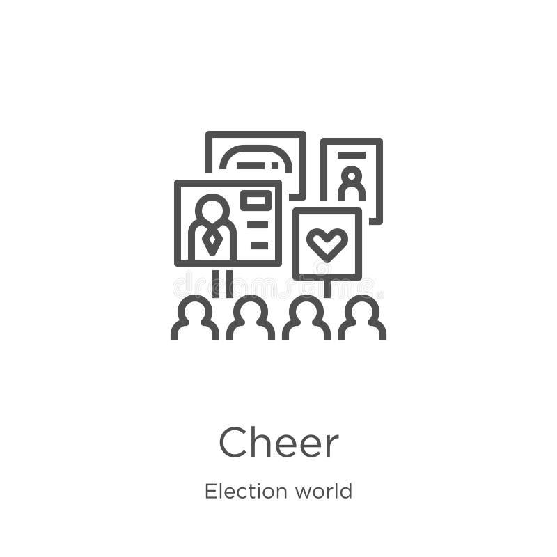 vecteur d'icône d'acclamation de collection du monde d'élection Ligne mince illustration de vecteur d'icône d'ensemble d'acclamat illustration de vecteur