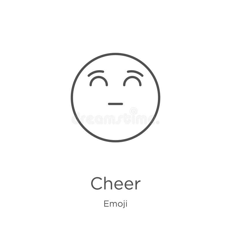 vecteur d'icône d'acclamation de collection d'emoji Ligne mince illustration de vecteur d'ic?ne d'ensemble d'acclamation Contour, illustration de vecteur