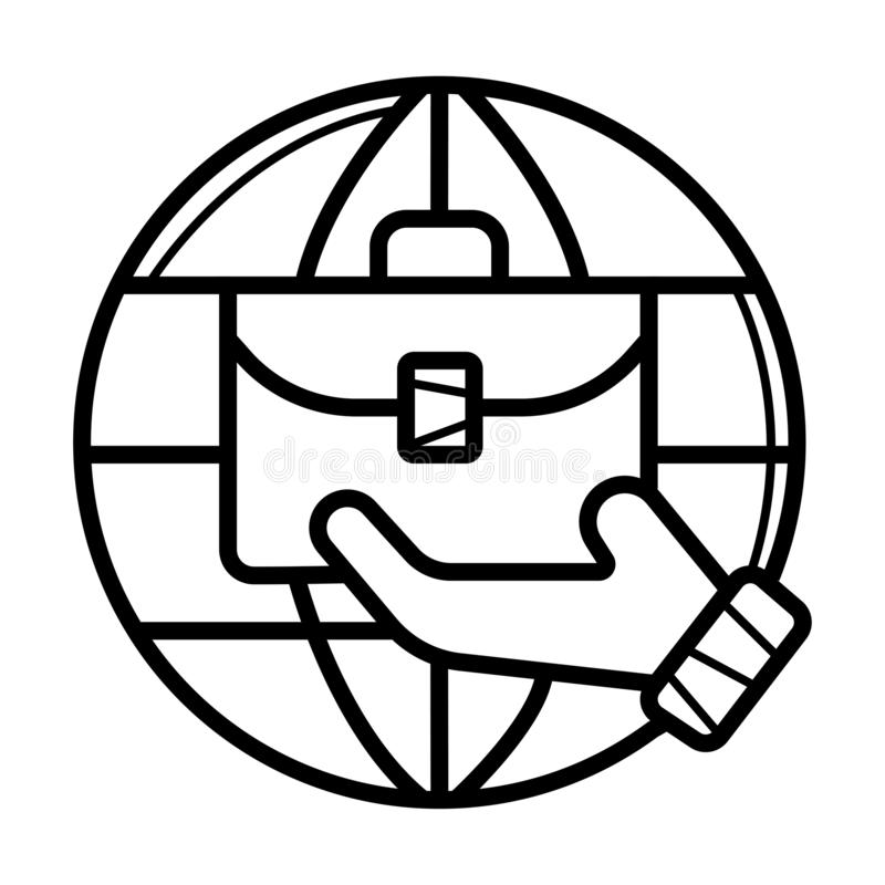 Vecteur d'icône d'affaires globales illustration stock