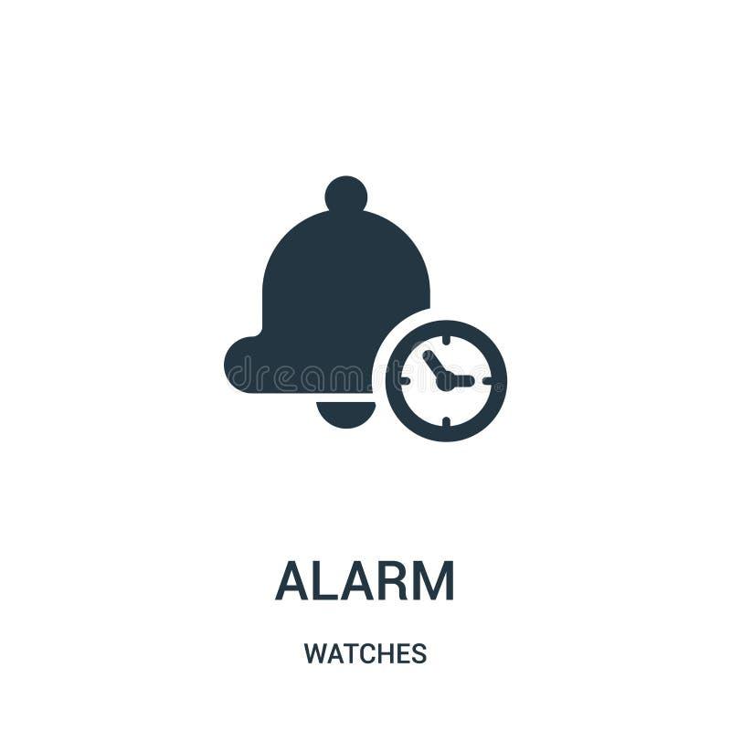 vecteur d'icône d'alarme de collection de montres Ligne mince illustration de vecteur d'ic?ne d'ensemble d'alarme Symbole lin?air illustration libre de droits