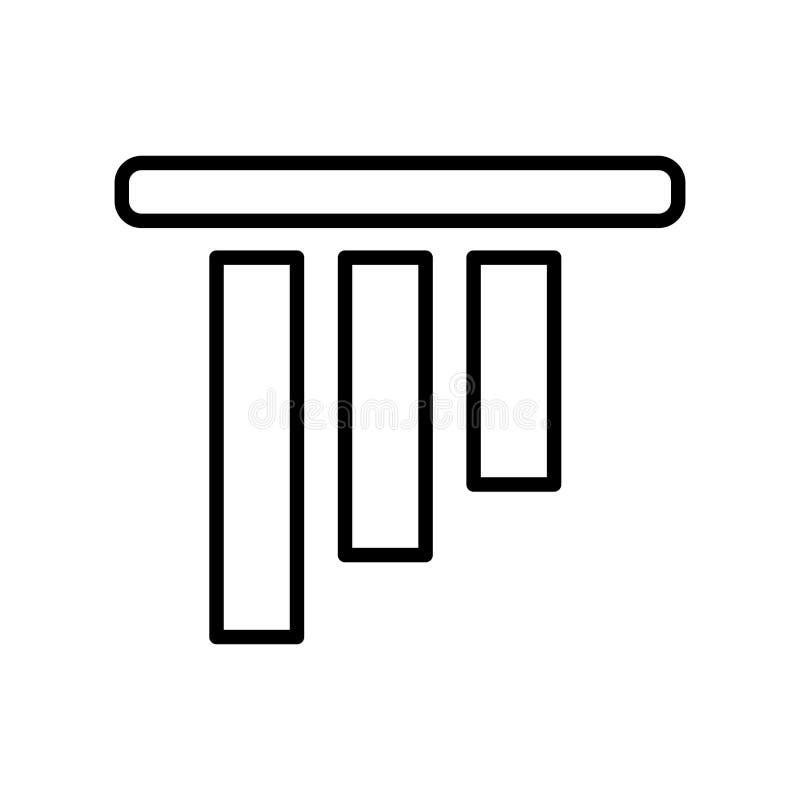 Vecteur d'icône d'alignement d'objet d'isolement sur le fond blanc, Objec illustration libre de droits