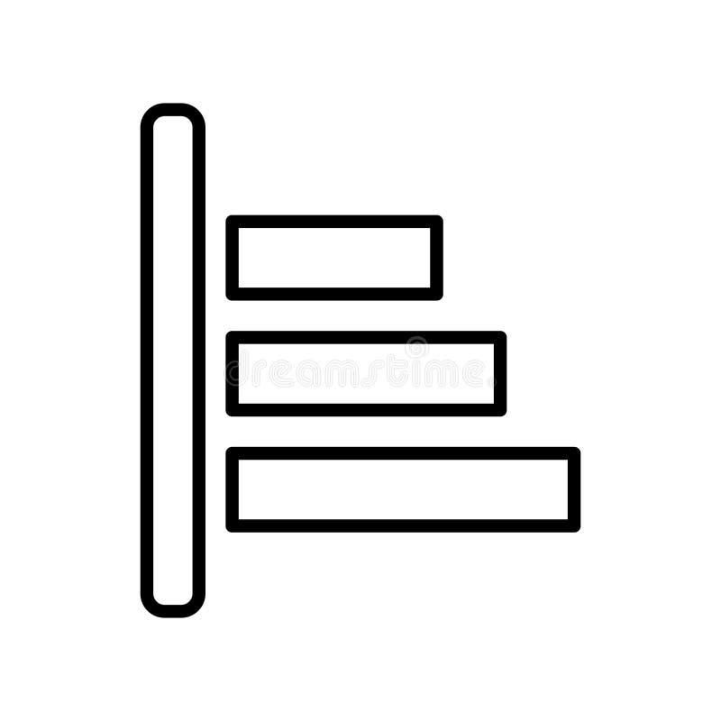 Vecteur d'icône d'alignement d'objet d'isolement sur le fond blanc, Objec illustration stock