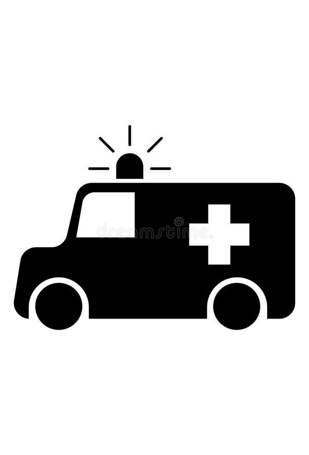 Vecteur d'icône d'ambulance illustration de vecteur