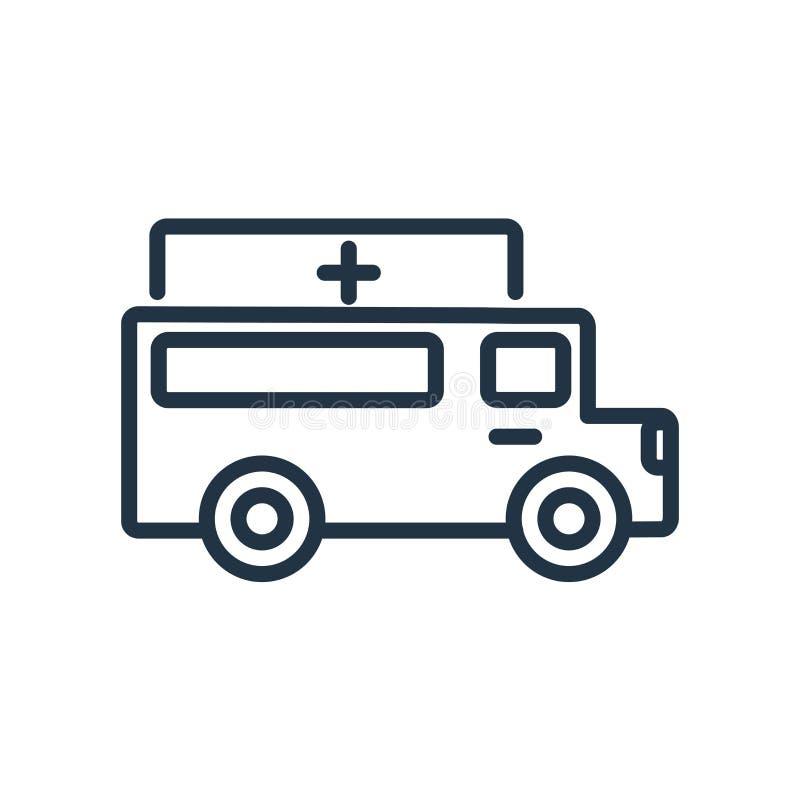 Vecteur d'icône d'ambulance d'isolement sur le fond blanc, ambulance SI illustration stock