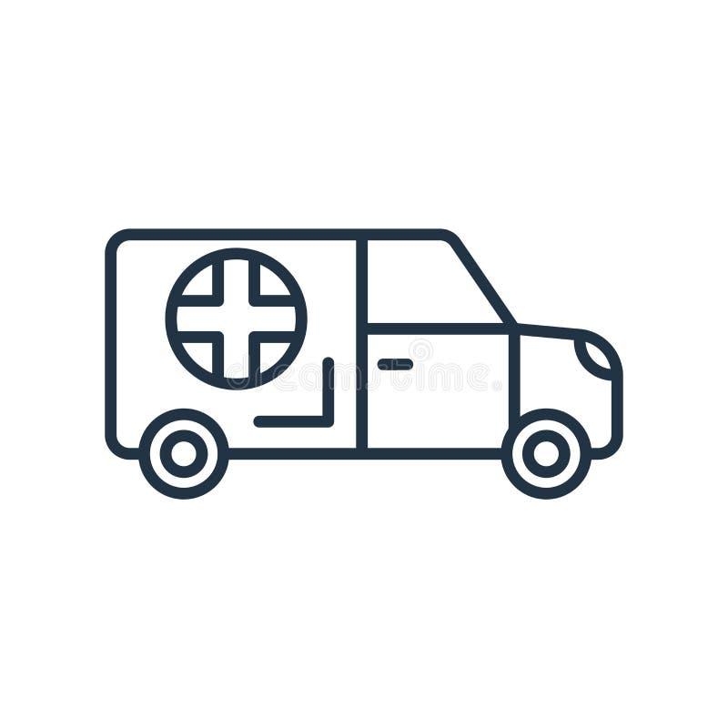 Vecteur d'icône d'ambulance d'isolement sur le fond blanc, signe d'ambulance illustration de vecteur