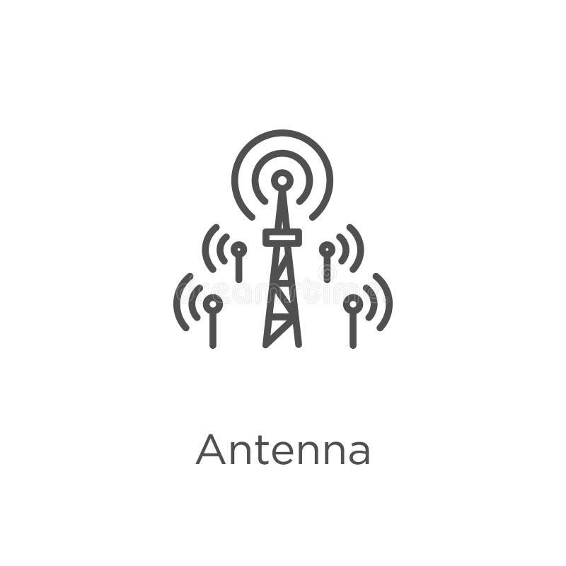 vecteur d'icône d'antenne de collection de g Ligne mince illustration de vecteur d'ic?ne d'ensemble d'antenne Contour, ligne minc illustration libre de droits
