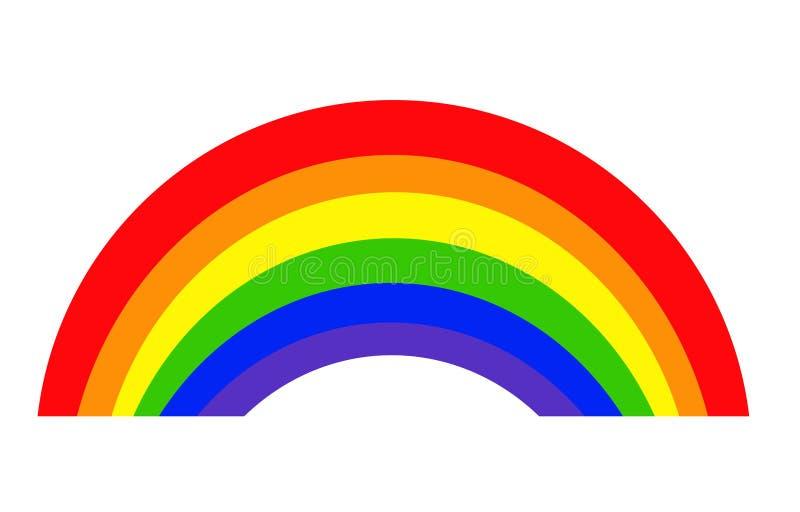 Vecteur d'icône d'arc-en-ciel, illustration de logo illustration de vecteur