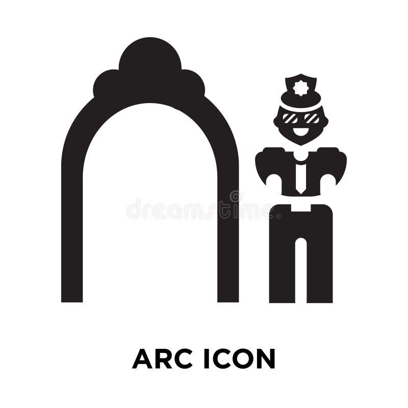 Vecteur d'icône d'arc d'isolement sur le fond blanc, concept de logo de l'AR illustration de vecteur