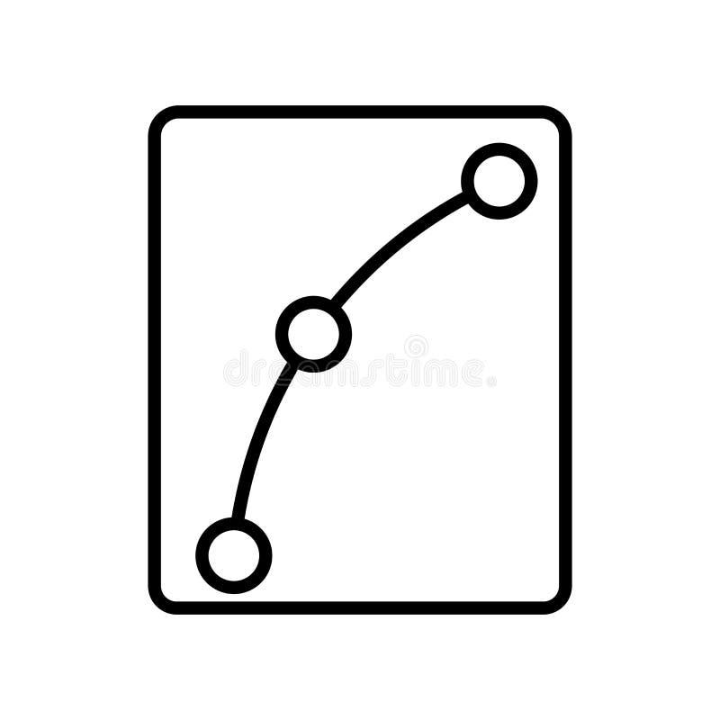 Vecteur d'icône d'arc d'isolement sur le fond blanc, signe d'arc, ligne ou illustration libre de droits