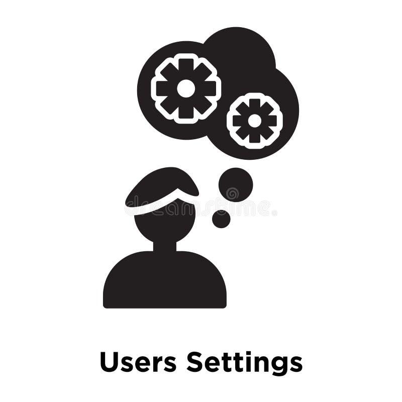 Vecteur d'icône d'arrangements d'utilisateurs d'isolement sur le fond blanc, logo Co illustration de vecteur