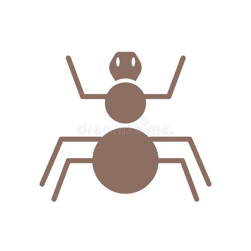 Vecteur d'icône d'arthropode d'isolement sur le fond blanc, signe d'arthropode, symboles historiques d'âge de pierre illustration stock
