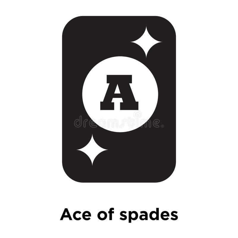 Vecteur d'icône d'as de pique d'isolement sur le fond blanc, escroquerie de logo illustration de vecteur