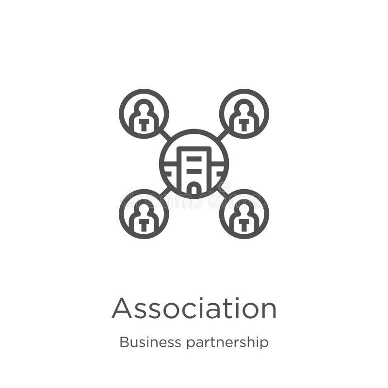 vecteur d'icône d'association de collection d'association d'affaires Ligne mince illustration de vecteur d'icône d'ensemble d'ass illustration stock