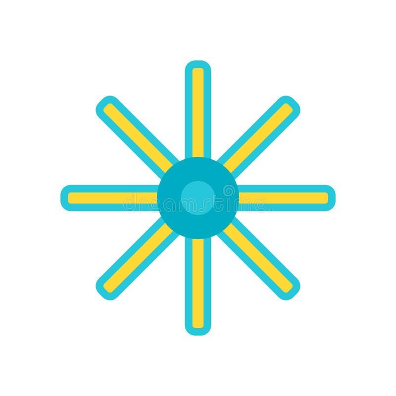 Vecteur d'icône d'astérisque d'isolement sur le fond blanc, signe d'astérisque illustration libre de droits
