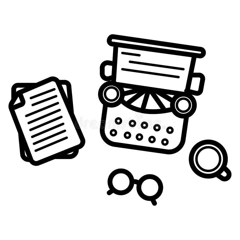 Vecteur d'icône d'auteur illustration de vecteur