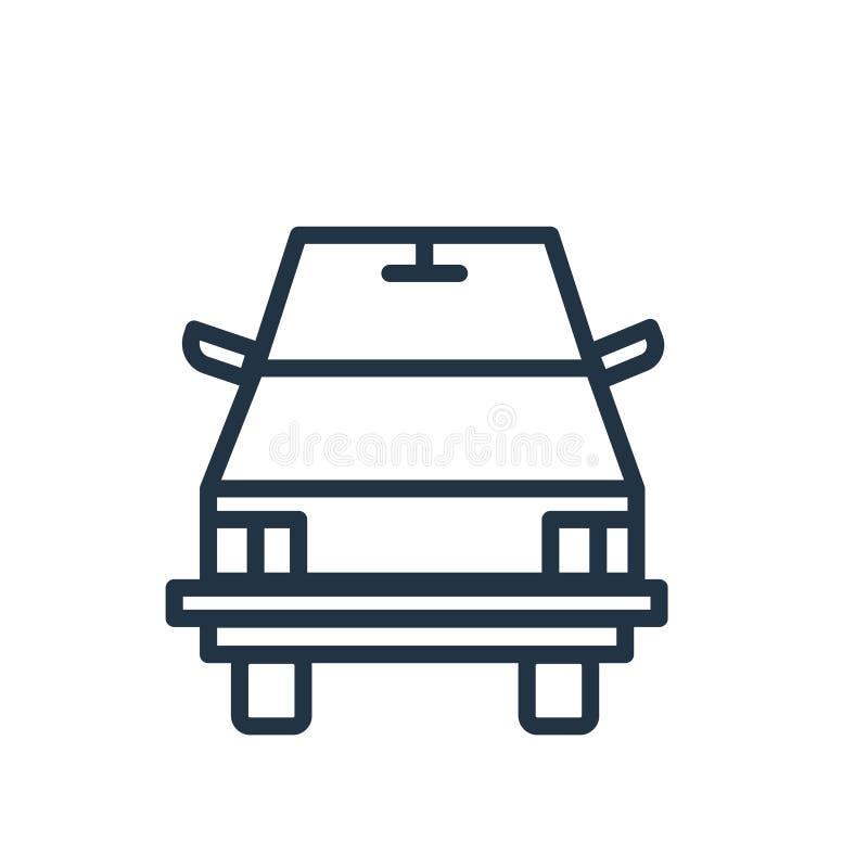 Vecteur d'icône d'autobus scolaire d'isolement sur le fond blanc, signe d'autobus scolaire illustration libre de droits
