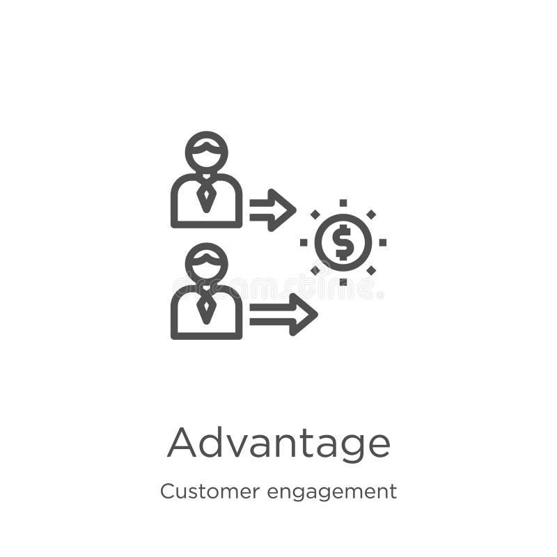 vecteur d'icône d'avantage de collection d'engagement de client Ligne mince illustration de vecteur d'ic?ne d'ensemble d'avantage illustration libre de droits