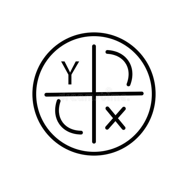 Vecteur d'icône d'axe d'isolement sur le fond, le signe d'axe, la ligne et les éléments blancs d'ensemble dans le style linéaire illustration stock