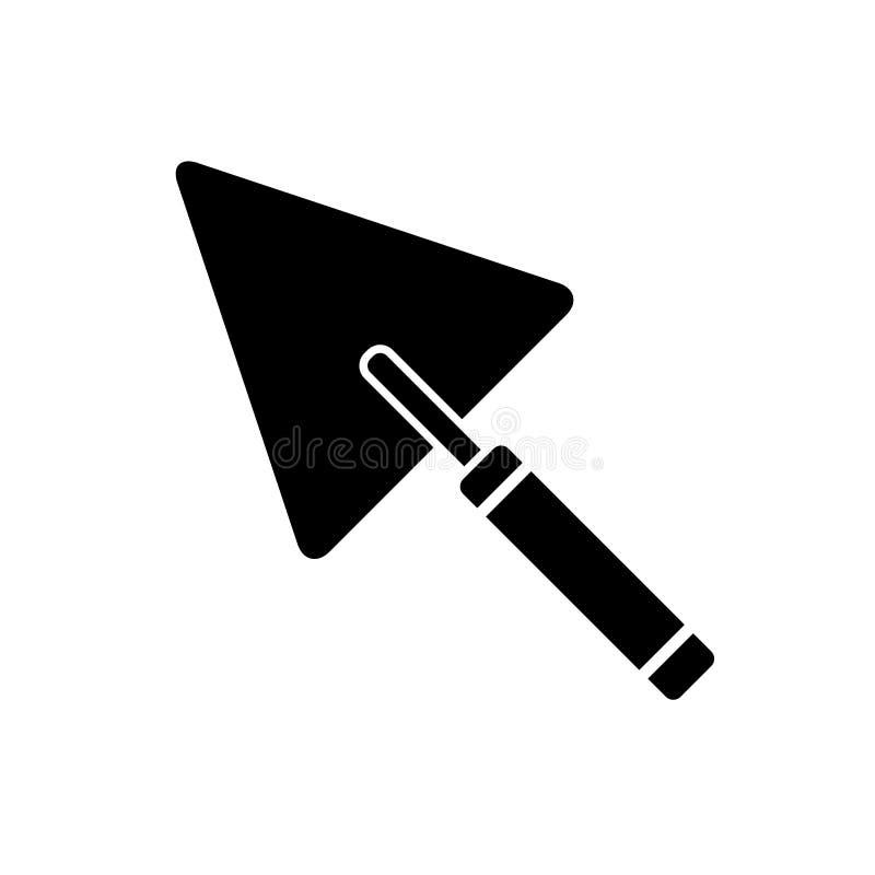 Vecteur d'icône de bâtiment de truelle Icône de truelle, vecteur Art Illustration de truelle Symbole de signe de vecteur d'isolem illustration de vecteur