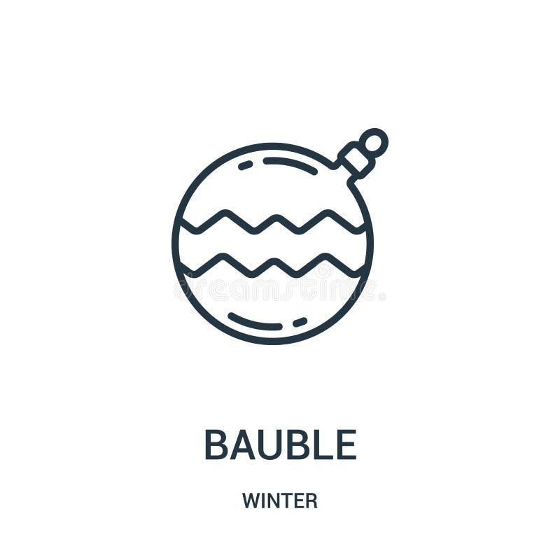 vecteur d'icône de babiole de collection d'hiver Ligne mince illustration de vecteur d'icône d'ensemble de babiole Symbole linéai illustration libre de droits