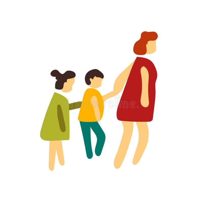 Vecteur d'icône de babysitter d'isolement sur le fond blanc, signe de babysitter illustration stock