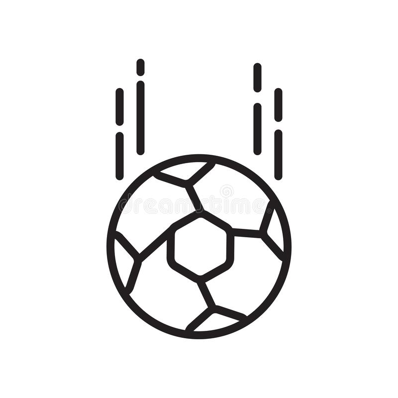Vecteur d'icône de ballon de football d'isolement sur le fond, le signe de ballon de football, le signe et les symboles blancs da illustration stock