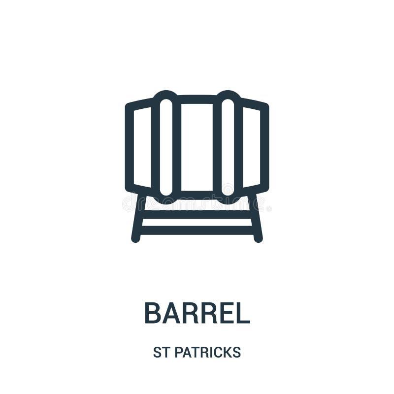 vecteur d'icône de baril de collection de patricks de St Ligne mince illustration de vecteur d'icône d'ensemble de baril Symbole  illustration de vecteur
