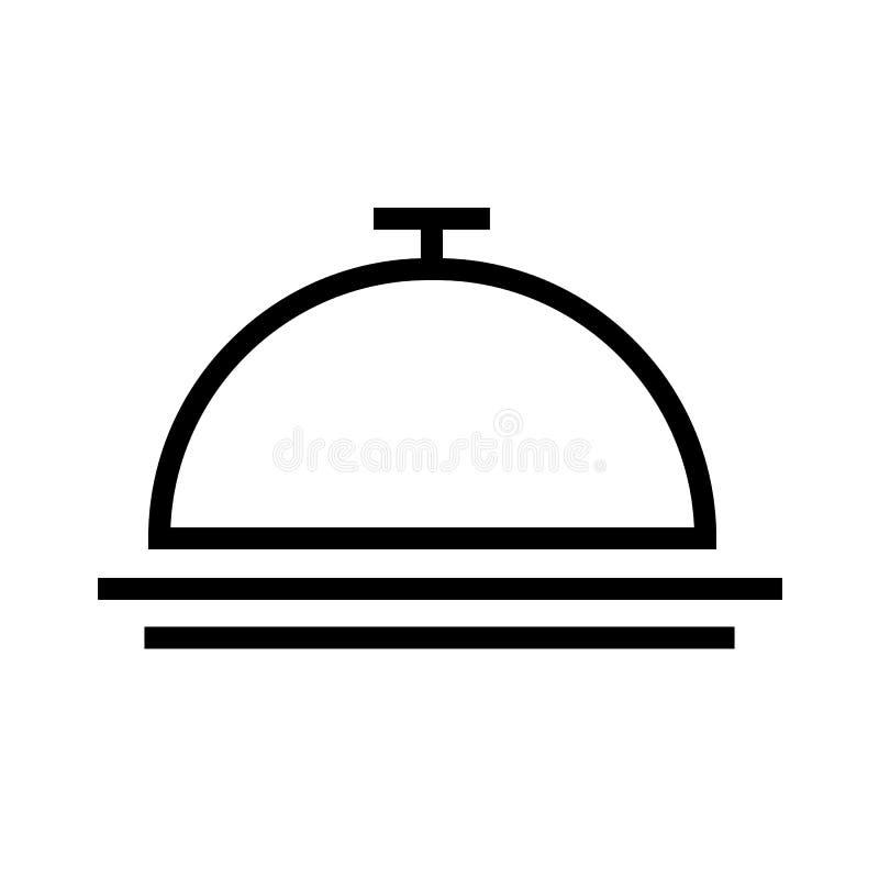 Vecteur d'icône de Bell d'hôtel illustration libre de droits