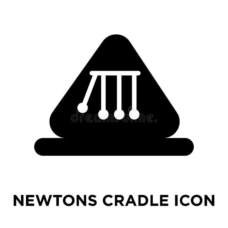 Vecteur d'icône de berceau de newton d'isolement sur le fond blanc, logo Co illustration de vecteur